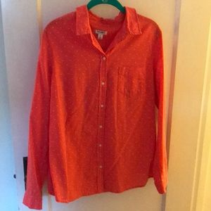 Cute coral button down